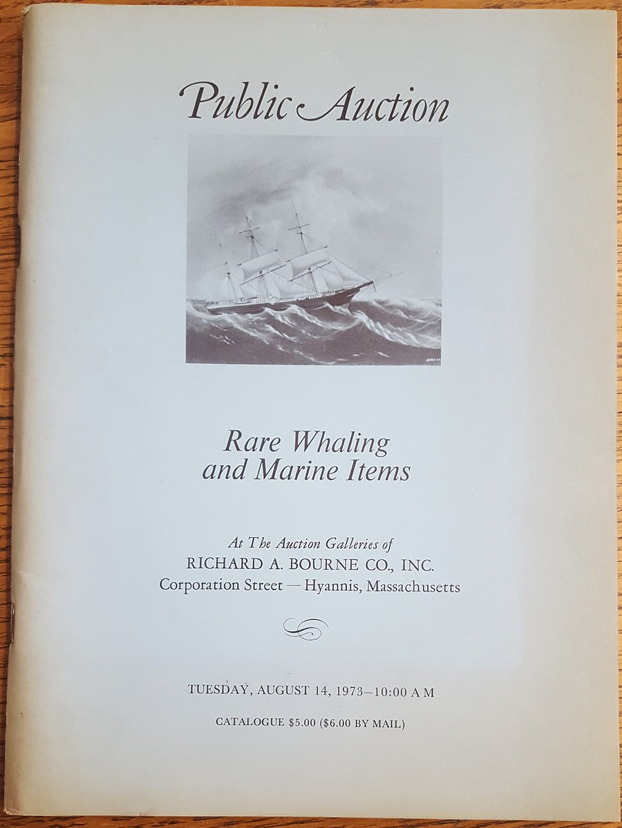 - Public Auction, Rare Whaling and Marine Items Including Journal Log Books, Scrimshaw, Ship Models, Fine Paintings, Rare Books, Whaling Gear, Nantucket Baskets, Ships' Gear, Navigational Instruments, Etc. From a Number of Private Collections and Estates