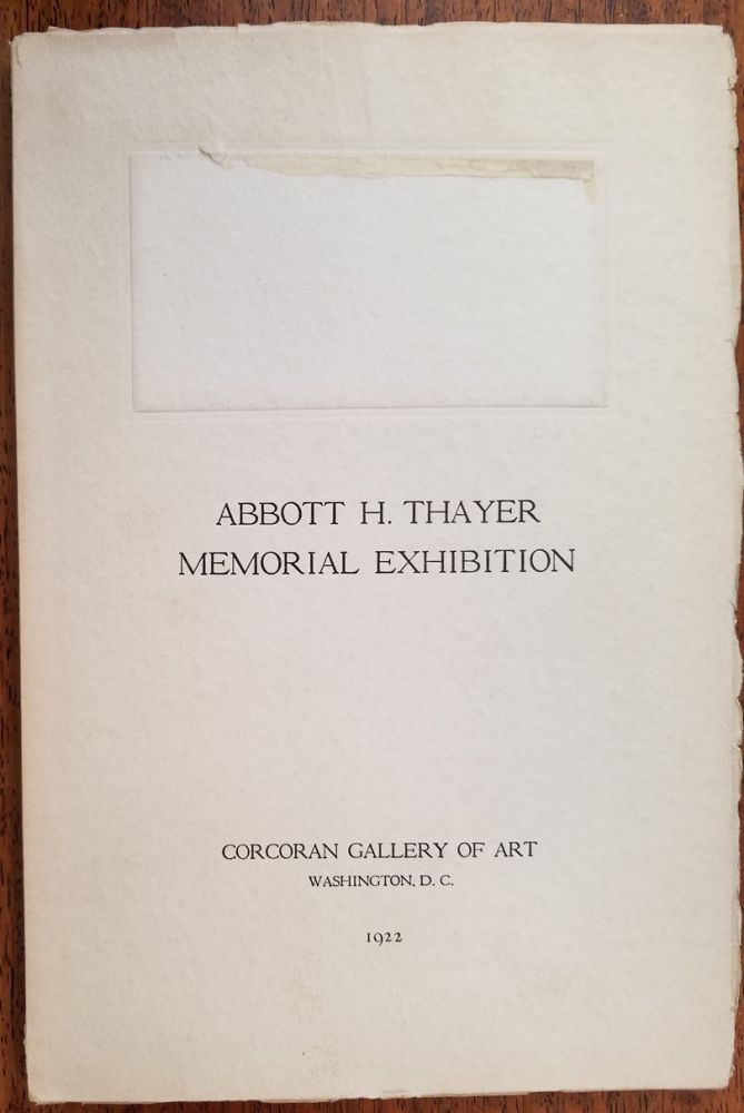 Abbott H. Thayer Memorial Exhibition. Virgil Barker, Introduction.