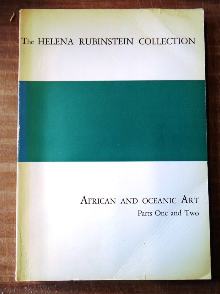 The Helena Rubinstein Collection: African and Oceanic Art Parts One and Two. Parke-Bernet Galleries.
