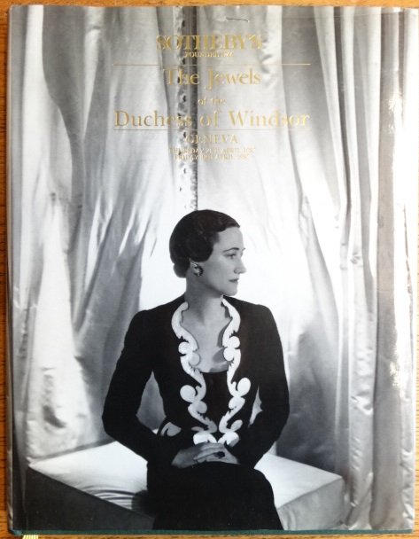 The Jewels of the Late Duchess of Windsor, sold for the benefit of The Pasteur Institute. Sotheby's.