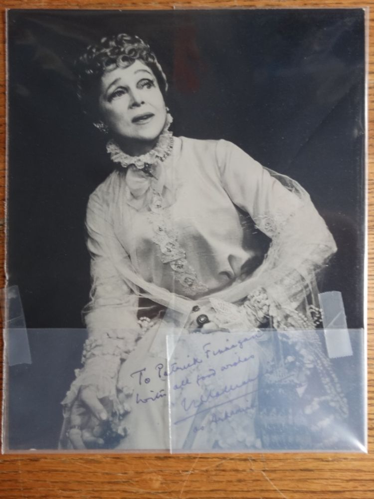 Eva Le Gallienne Signed/Inscribed B/W Professional Photograph