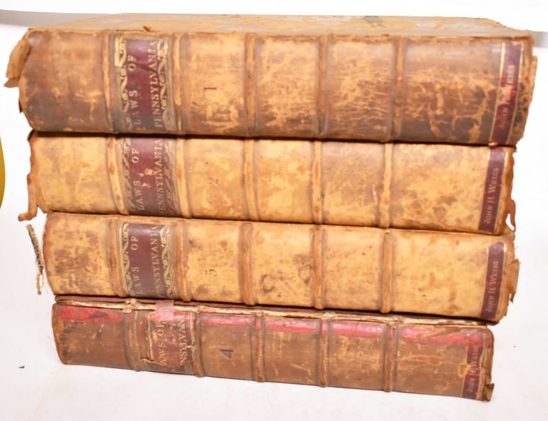 LAWS OF THE COMMONWEALTH OF PENNSYLVANIA (4 volumes). Alexander James Dallas.