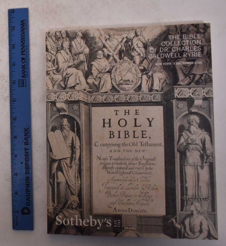 The Bible Collection of Dr. Charles Caldwell Ryrie. Sotheby's.