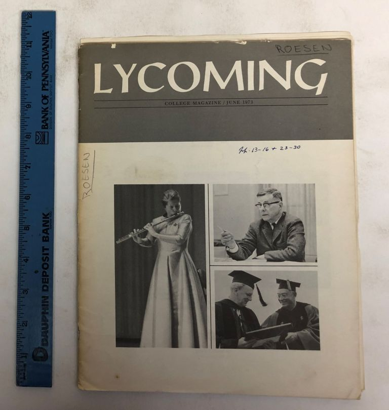 Lycoming College Magazine, Volume 26, Number 6. Richard A. Hughes, Maurice A. Mook, William E. Alberts, Barbara J. Jones.