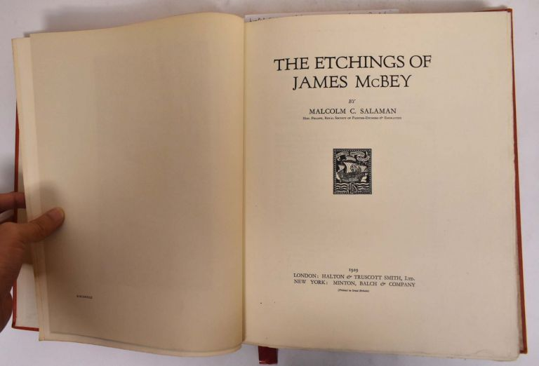The Etchings of James McBey. Malcolm C. Salaman.