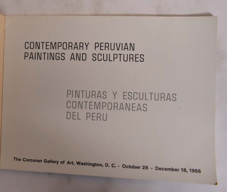 Contemporary Peruvian Paintings and Sculptures. Corcoran Gallery of Art.