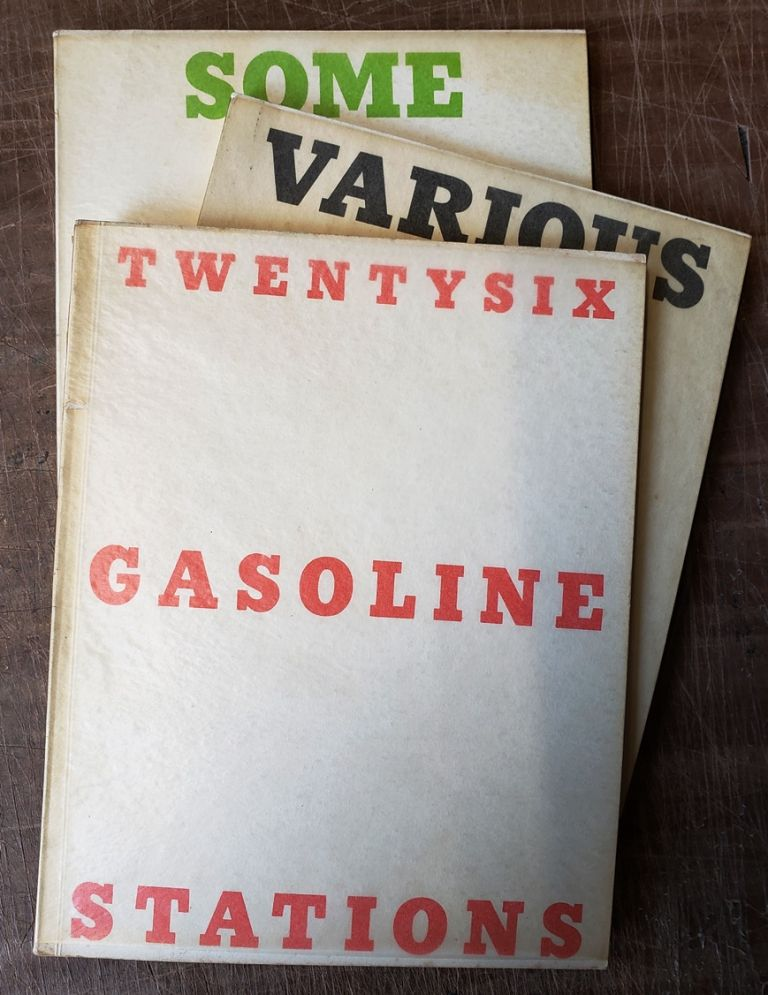 TWENTYSIX GASOLINE STATIONS (with) VARIOUS SMALL FIRES AND MILK (with) SOME LOS ANGELES APARTMENTS. Edward Ruscha.