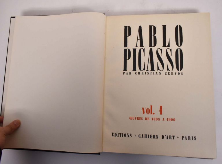 Pablo Picasso: Vol. 1, Works from 1895 to 1906. Christian Zervos.