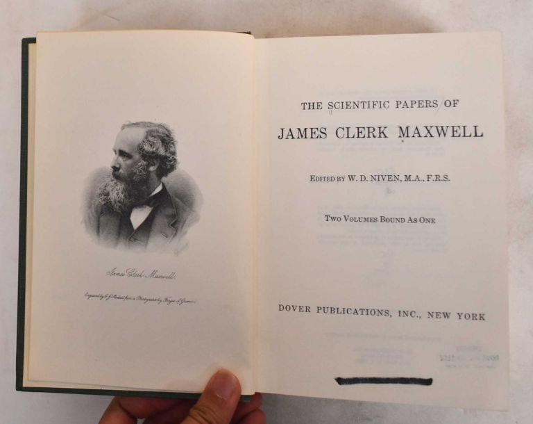 The Scientific Papers of James Clerk Maxwell. W. D. Niven.