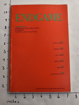 Endgame: Reference and Simulation in Recent Painting and Sculpture. David A. Ross, Preface