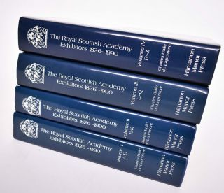 The Royal Scottish Academy, 1826-1990 (4 volume set COMPLETE); A Dictionary of Artists and Their...