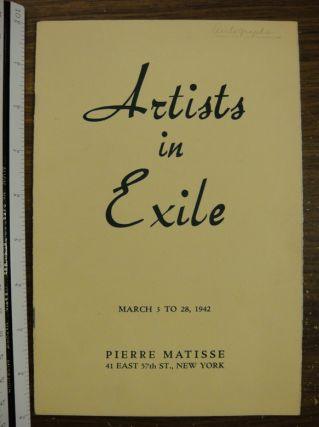 Artists In Exile. NY Pierre Matisse Gallery