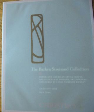 The Barbara Streisand Collection: Important American Arts & Crafts, Architectural Designs, Art...