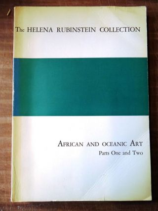 The Helena Rubinstein Collection: African and Oceanic Art Parts One and Two. Parke-Bernet Galleries