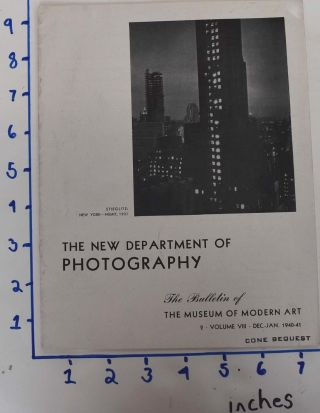 The New Department of Photography (The Bulletin of The Museum of Modern Art 2, Volume VIII, Dec....