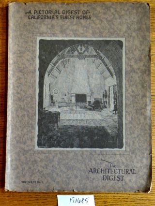 A Pictorial Digest of California's Finest Homes (The Architectural Digest, Volume VI No. 1