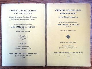 Chinese Porcelains and Pottery; Chinese & Japanese Paintings & Bronzes; Persian and Mesopotamian...