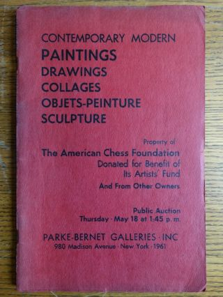 Modern Paintings, Drawings, Collages, Objets-Peinture and Sculpture -- Property of The American...