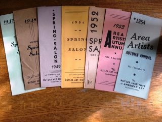 Annual Spring Salon: 1947, 1948, 1949, 1951, 1952; Area Artists Autumn Annual 1953, 1954 [lot of 7