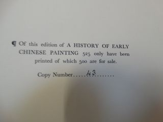 A History of Early Chinese Painting, Volume I: From the Han to the Beginning of the Sung Period