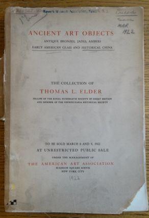 Illustrated Catalogue of The Thomas L. Elder Collection of Antiquities, including prehistoric...