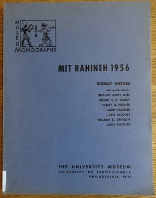 Mit Rahineh 1956. Rudolf Anthes