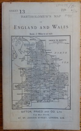 Bartholomew's Map of England and Wales, Sheet 13 (Derby and Nottingham