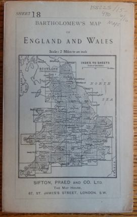 Bartholomew's Map of England and Wales, Sheet 18 (Birmingham and Leicester