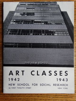 Art Classes 1942 - 1943, New School for Social Research