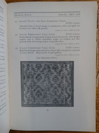 Spanish, French & Italian Chinese and Japanese Textiles. Embroideries, Wall Hangings, Priest's Robes, No-Dance Costumes, Chasubles, Copes, Decorated Screens, Silk Carpets. Sold By Order of The Owner, Mr. Sadajiro Yamanaka