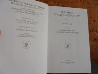 Judaism in Late Antiquity: Part One, The Literary and Archaeological Sources (Handbuch der Orientalistik)