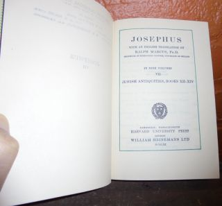 Josephus: Jewish Antiquities, Books XII-XIV, Volume VII (Loeb Classical Library)