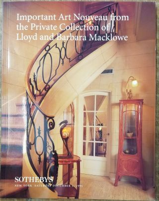 Important Art Nouveau From the Private Collection of Lloyd and Barbara Macklowe (Sale 6785)....
