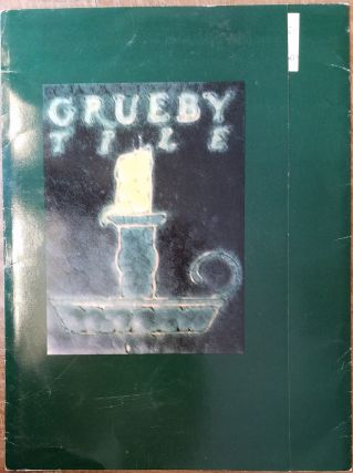 Grueby Tile with Price List from David Rago (Grueby Pottery