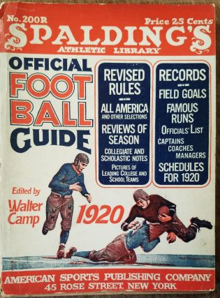 "Spalding's Official Foot Ball Guide 1920 (Spalding ""Red Cover"" Series of Athletic Handbooks No...."