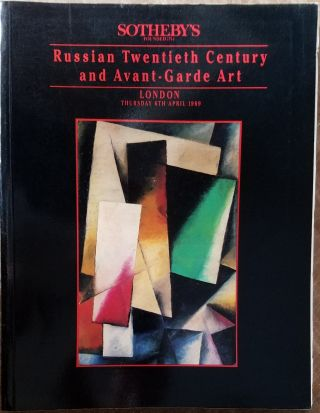 RUSSIAN TWENTIETH CENTURY AND AVANT-GARDE ART
