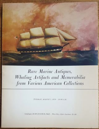 Rare marine antiques, whaling artifacts and memorabilia from various American Collections