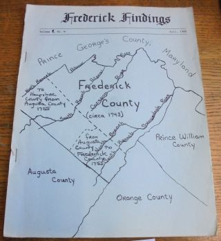 Frederick Findings, volume 1, no. 4, Fall 1988