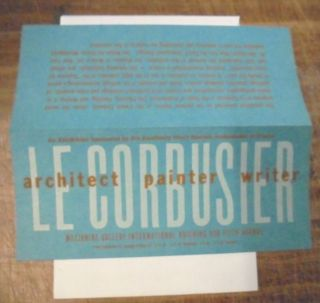 Le Corbusier: Architect, Painter, Writer
