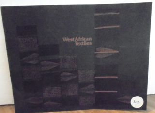 West African Textile. Charlotte Vestal Brown