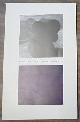The Role of Government in Art Today : AFA Quarterly : Volume 1, Number 3, 1963. Margaret Cogswell