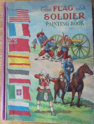 The Flag and Soldier Painting Book (McLoughlin Book No. 992