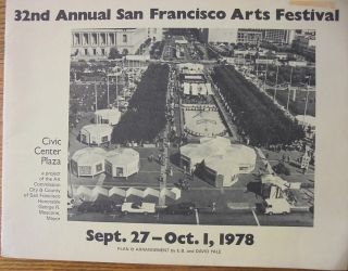 32nd Annual San Francisco Arts Festival