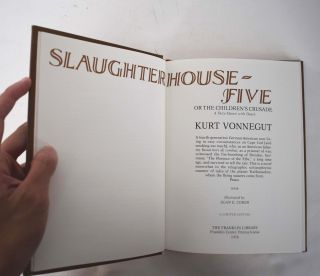 Slaughterhouse-Five or, The children's crusade : a duty-dance with death