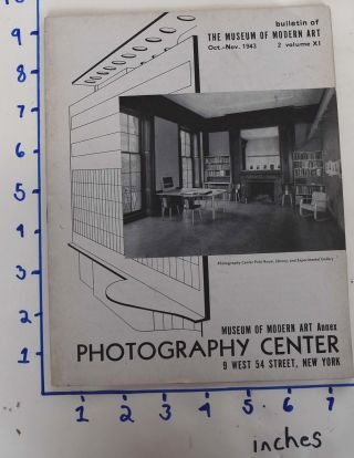 Photography Center, Museum of Modern Art Annex (Bulletin of The Museum of Modern Art, Oct. - Nov....