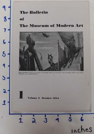 The Bulletin of the Museum of Modern Art : Vol. 2, No. 1, Oct., 1934. Carol Aronovici.