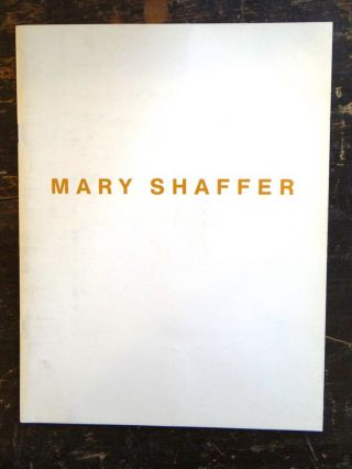 Mary Shaffer. Farmington Hills Habatat Galleries, MI: Nov., 1992