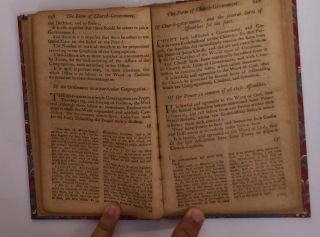 """The Form of Presbyterial Church-Government... (individual section of """"Confession of Faith, the Larger and Shorter Catechisms, with the Scripture Proofs at Large Together with the Sum of Saving Knowledge (Contained in the Holy Scriptures, and held forth in the said Confession and Catechisms) and Practical Use thereof; Covenants National and Solemn League, Acknowledgment of Sins and Engagements to Duties, Directories, Form of Church Government, &c. of Public-Authority in the Church of Scotland. With Acts of Assembly and Parliament, relative to, and approbative of the same."""")"""