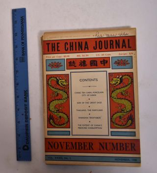 The China Journal: November, 1940 Vol. XXXIII, No. 5. Sterling S. Beath, Hsu Feng Yuin.