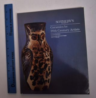 Ceramics by 20th Century Artists. Sotheby's